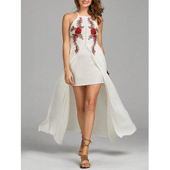 Floral Embroidered Openwork Cami Dress