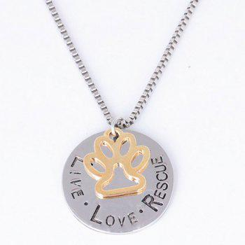 Engraved Rescue Love Live Footprint Necklace