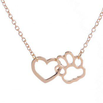 Hollow Out Heart Claw Pendant Necklace