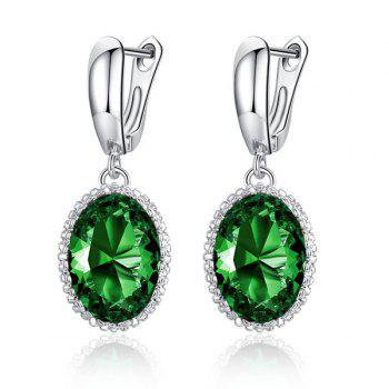 Zircon Faux Crystal Drop Earrings