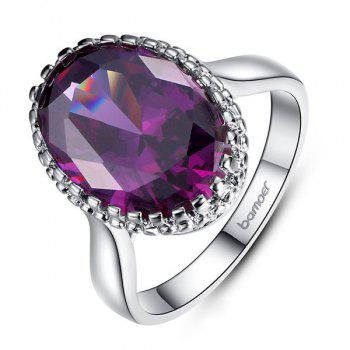 Platinum Plated Zircon Faux Crystal Ring