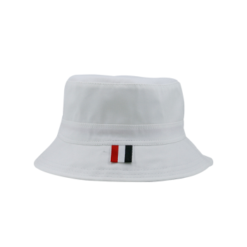 Sunscreen Plain Line Embroidered Bucket Hat