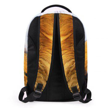 3D Lion Print Backpack -  LIGHT BROWN