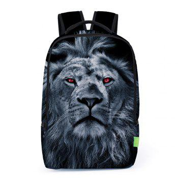 3D Lion Print Backpack