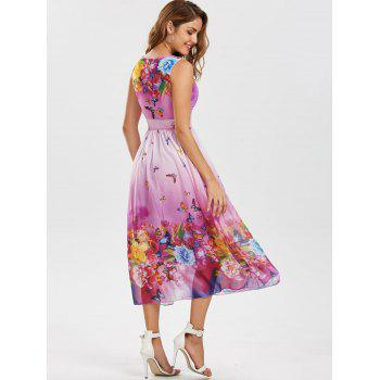 Bohemian Butterfly Floral Print Maxi Dress - XL XL