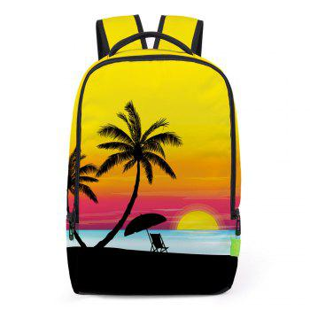 Padded Strap Palm Printed Backapck