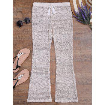 Sheer Wide Leg Lace Boho Beach Pants