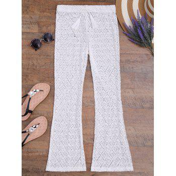Crochet Boho Wide Leg Beach Pants