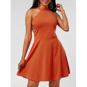 High Neck Fit and Flare Mini Cocktail Dress - JACINTH S