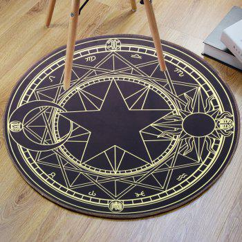 Crystal Velvet Fabric Magic Circle Round Bath Mat