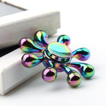 Rainbow EDC Metal Fingertip Gyro Fidget Spinner - COLORFUL COLORFUL
