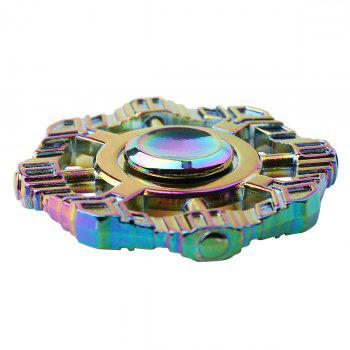 Colorful Zinc Alloy Finger Spinner Fidget Toy - COLORFUL 6*6*1.2CM