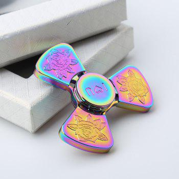 I Love You Rose Flower Pattern EDC Fidget Metal Spinner - COLORMIX