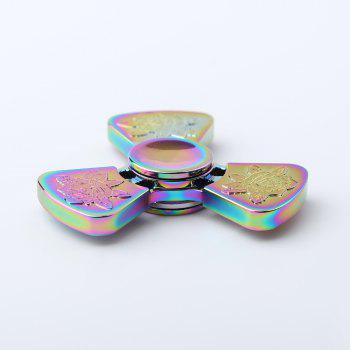 Je t'aime Rose Flower Pattern EDC Fidget Metal Spinner - multicolorcolore