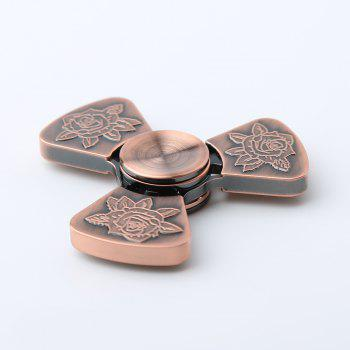 I Love You Rose Flower Pattern EDC Fidget Metal Spinner - BRONZED