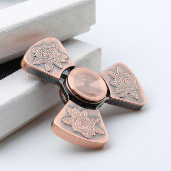 Je t'aime Rose Flower Pattern EDC Fidget Metal Spinner - Bronze