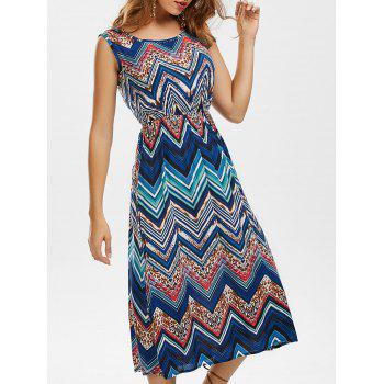 Zigzag Sleeveless Midi Dress