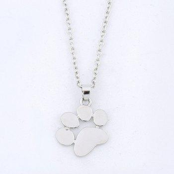 Little Dog Paw Pendant Necklace