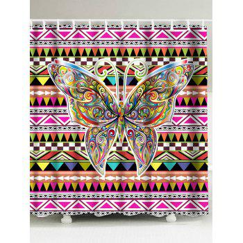 Butterfly Geometric Waterproof Shower Curtain