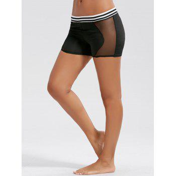 Stripe Mesh Panel Mini Sports Leggings