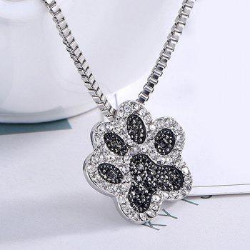 Rhinestone Footprint Cute Pendant Necklace