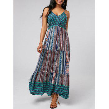 Printed Bohemian Long Slip Dress
