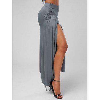 High Slit Asymmetric Maxi Skirt