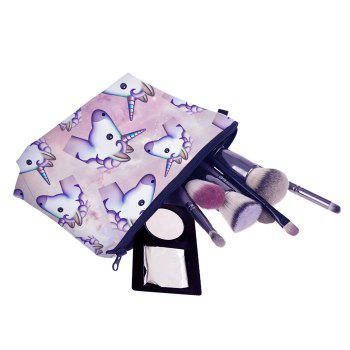 Animal Printed Makeup Clutch Bag - PURPLE