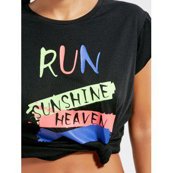 Funny Graphic Running T-shirts - BLACK ONE SIZE