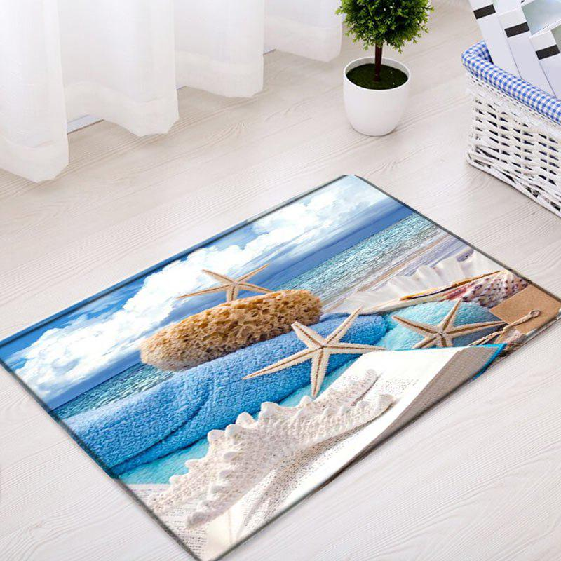 Beach Accent Rug: Starfish Beach Pattern Indoor Outdoor Area Rug, COLORMIX