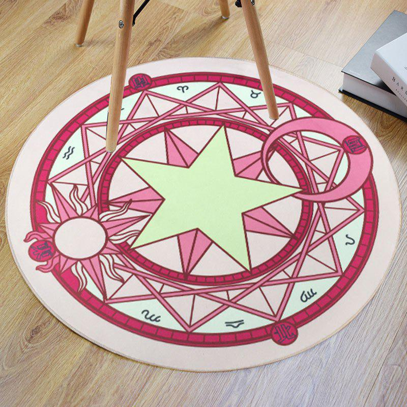 Crystal Velvet Fabric Magic Circle Print Round Bath Rug трусы слипы tai magic boost velvet