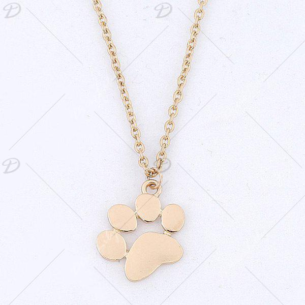 2018 little dog paw pendant necklace light gold in necklaces little dog paw pendant necklace light gold aloadofball Image collections