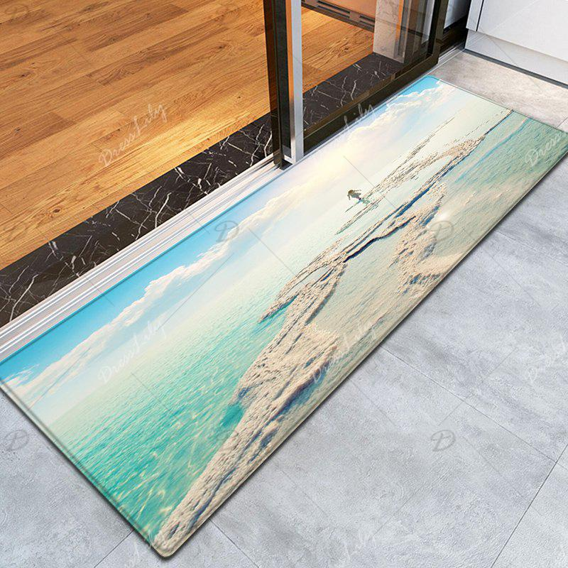 2018 tapis de la zone de bord de mer de la plage bleu ciel largeur pouces longueur pouces in. Black Bedroom Furniture Sets. Home Design Ideas