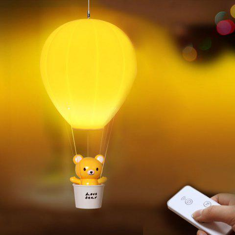 Télécommande Hot Air Balloon USB Charging Night Light - Jaune