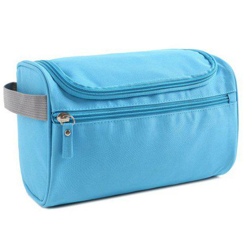 Nylon Toiletry Bag with Hook - LAKE BLUE