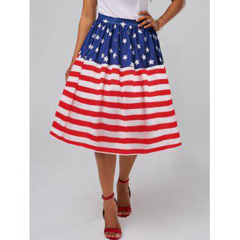 American Flag High Waisted Patriotic Skirt