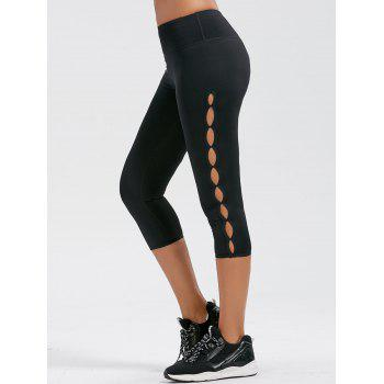 Side Cutout Capri Fitness Leggings
