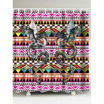 Double Dragons Waterproof Shower Curtain