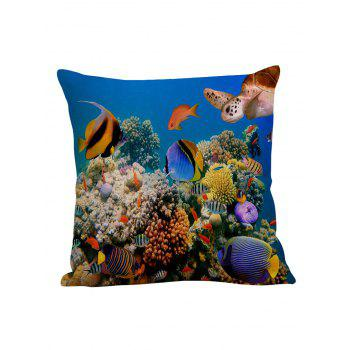 3D Underwater Fish Pillow Case - COLORFUL COLORFUL