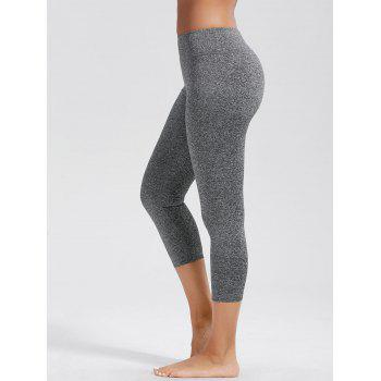 High Rise Capri Fitness Leggings with Pockets