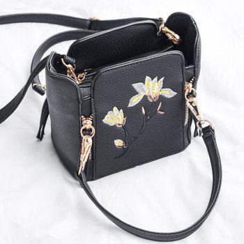 Multi Zips Flower Embroidery Handbag