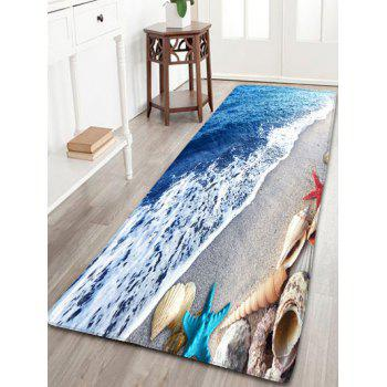 Bathroom Beach Starfish Skidproof Flannel Rug