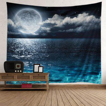 Home Decor Burning Moon over the Sea Tapestry