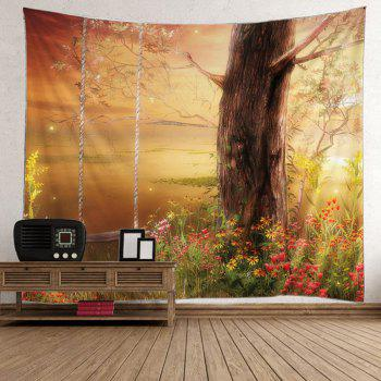 Tree Floral Print Tapestry