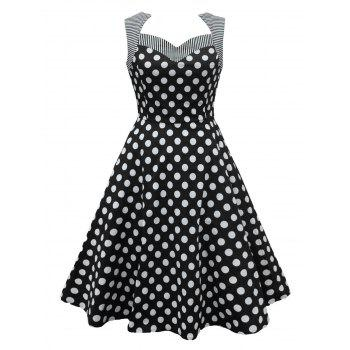 Polka Dot Striped Pin Up Dress