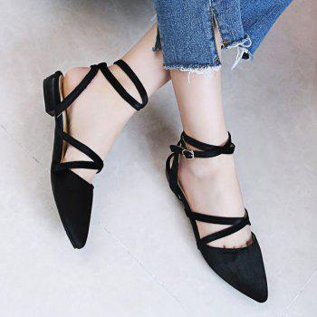 Slingback Velvet Flat Shoes