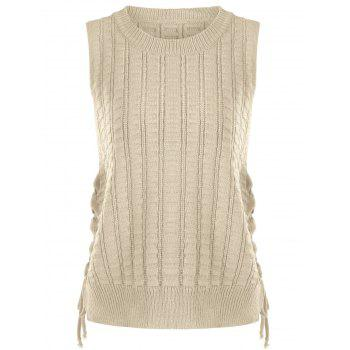 Lace Up Knit Sweater Vest