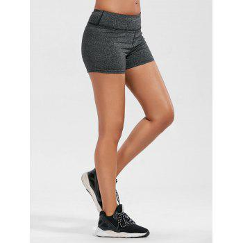 Mini Sporty Shorts with Pockets - GREY/DARK GREY GREY/DARK GREY