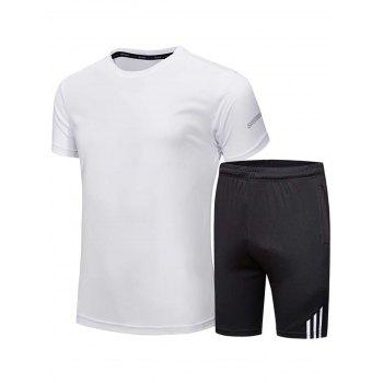 Short Sleeve Tee and Shorts Sportswear - WHITE WHITE
