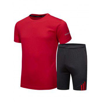 Short Sleeve Tee and Shorts Sportswear - RED RED